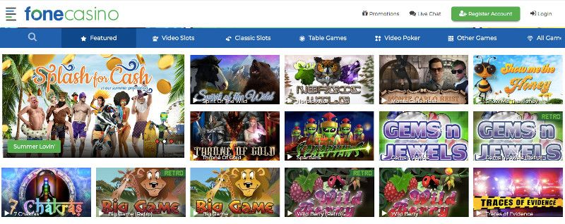 Fone casino screenshot