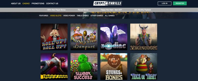 Slots at Crypto Thrills