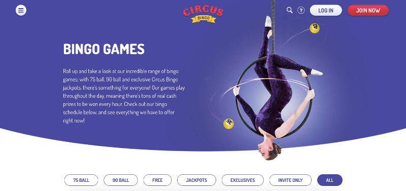 Bingo Games at Circus Bingo