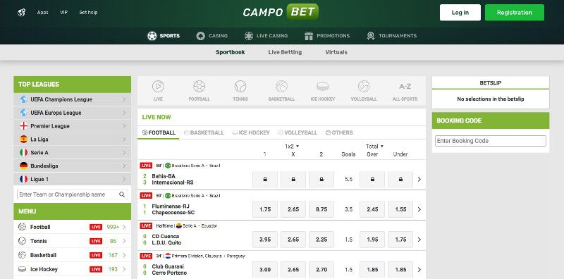 Campo bet sports betting