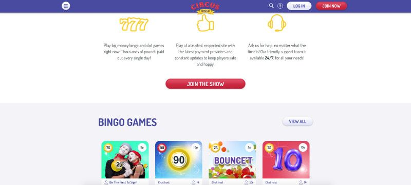 Circus Bingo screenshot