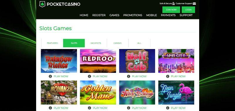 Pocket casino Slots