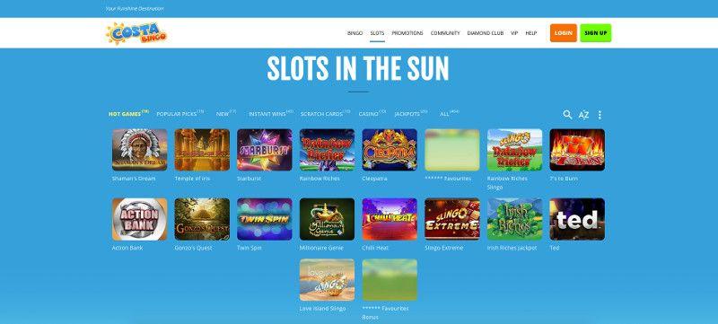 Slots at Costa Bingo
