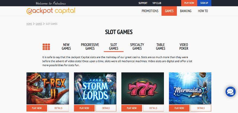 Jackpot Capital Slot Games