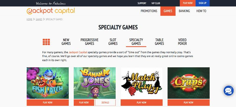 Jackpot Capital Speciality Games