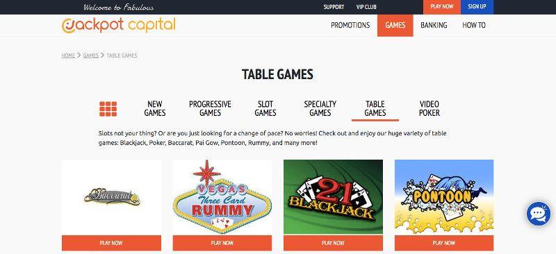 Jackpot Capital Table Games