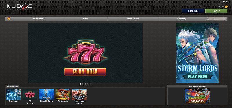 Kudos Casino Screenshot