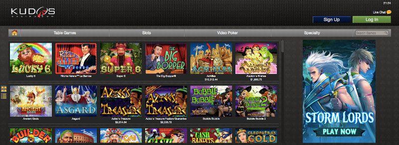 Slots at Kudos Casino