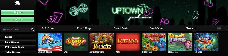 Uptown Pokies Speciality Games