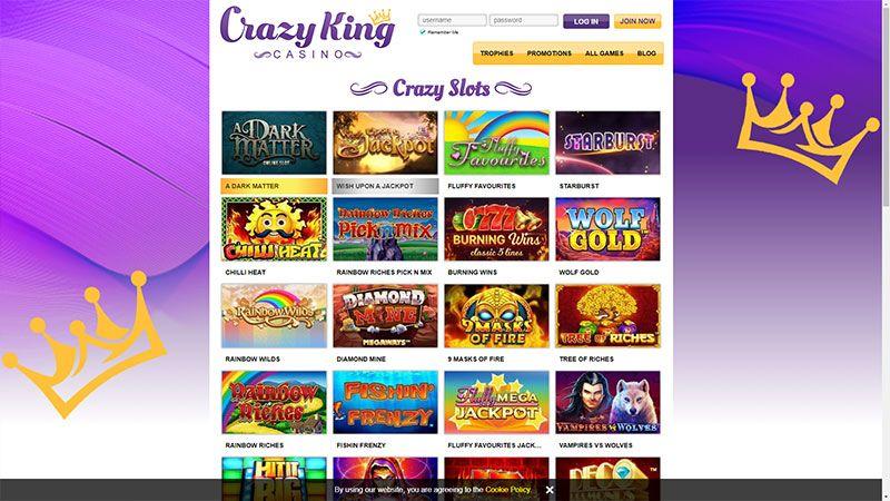 crazy king lobby screenshot