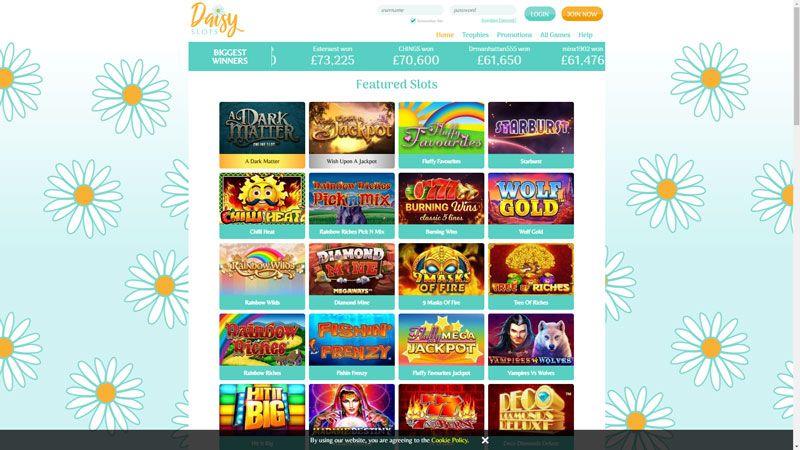 daisy slots lobby screenshot