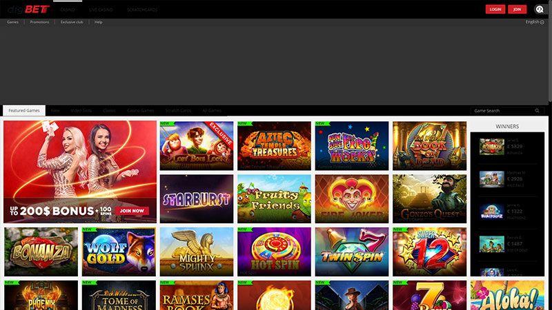 digibet lobby screenshot