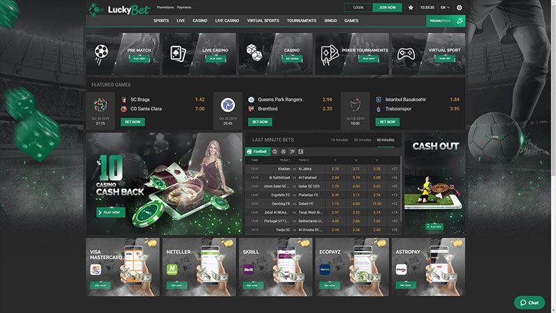 luckybet lobby screenshot
