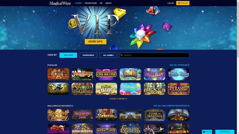 magicalwins slots lobby screenshot