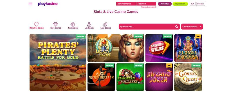 Playcasino screenshot