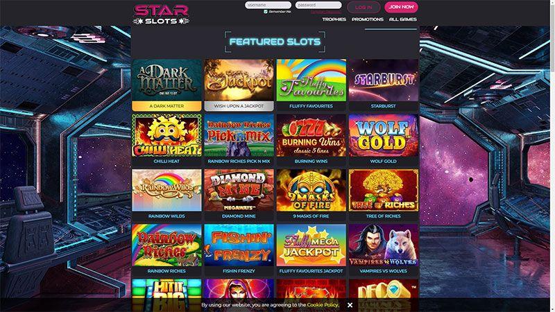 starslots lobby screenshot