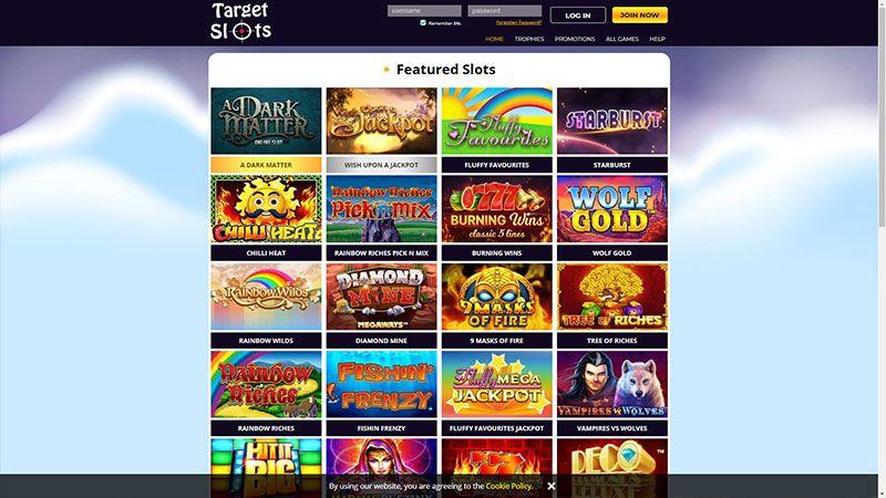 target slots lobby screenshot