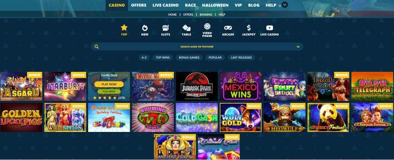 VipSpel casino screenshot