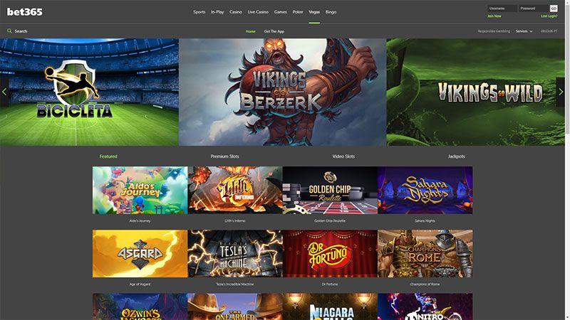 bet365 vegas lobby screenshot