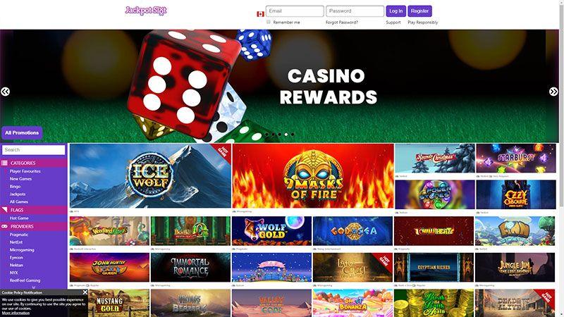 jackpotslot lobby screenshot