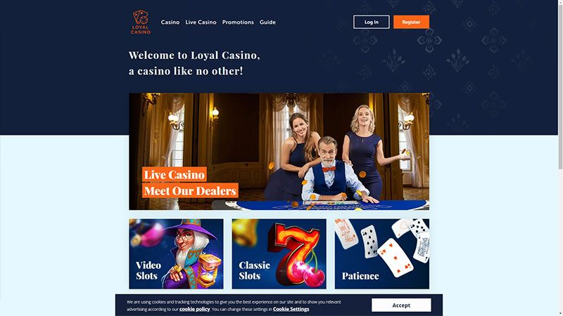 Loyal Casino lobby screenshot