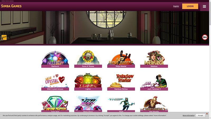 simba games lobby screenshot