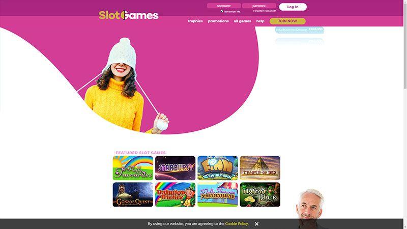 slotgames lobby screenshot