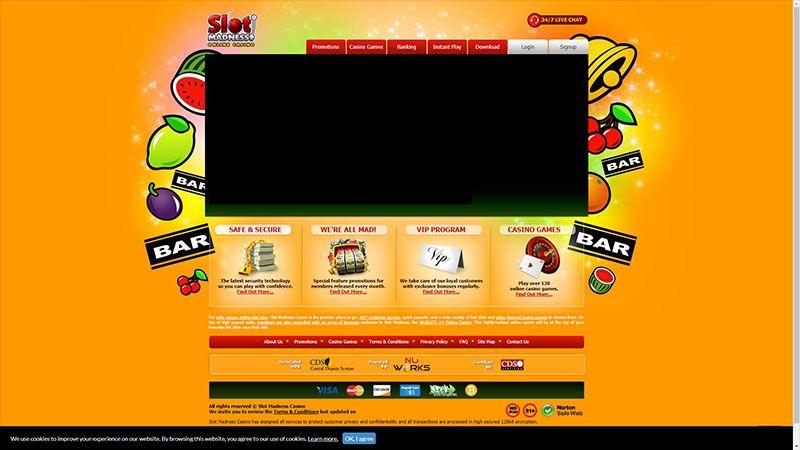 Slot madness lobby screenshot