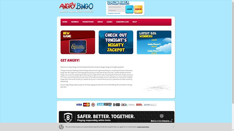 angry bingo lobby screenshot