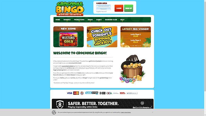 crocodile bingo lobby screenshot