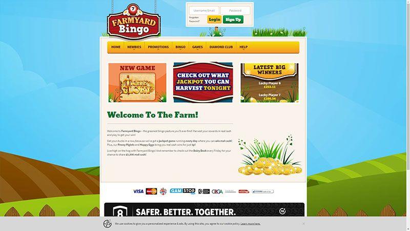 farmingyard bingo lobby screenshot