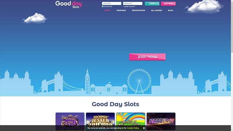 good day slots lobby screenshot