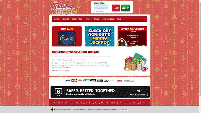 season bingo lobby screenshot