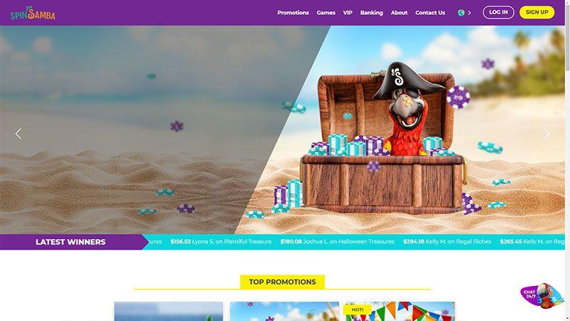 spinsamba lobby screenshot