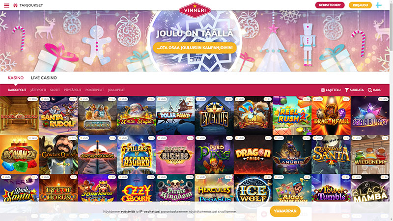 vinneri lobby screenshot