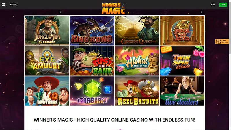 winners magic lobby screenshot