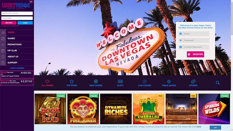 luckyvegas lobby screenshot