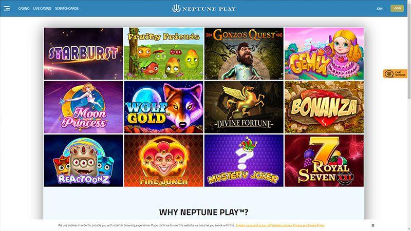 neptuneplay lobby screenshot