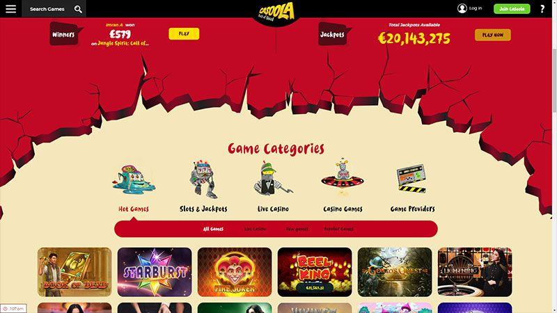 Casoola lobby screenshot