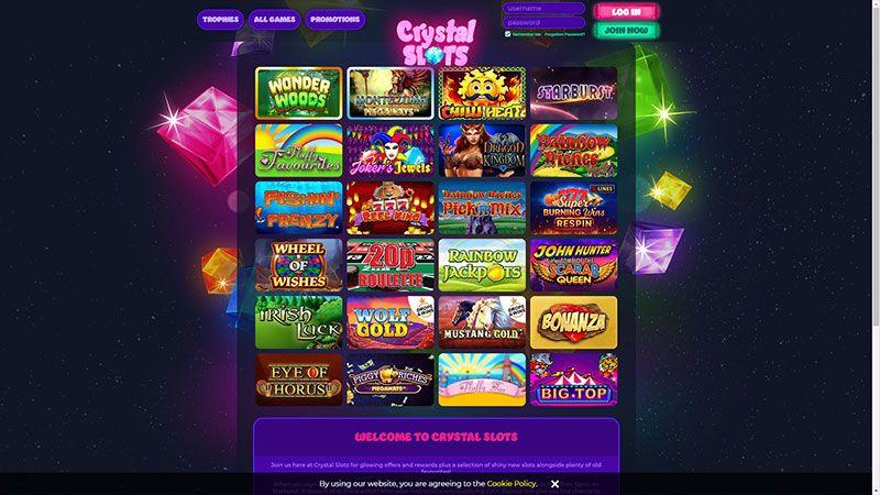 crystalslots lobby screenshot
