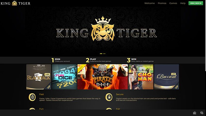 kingtiger lobby screenshot