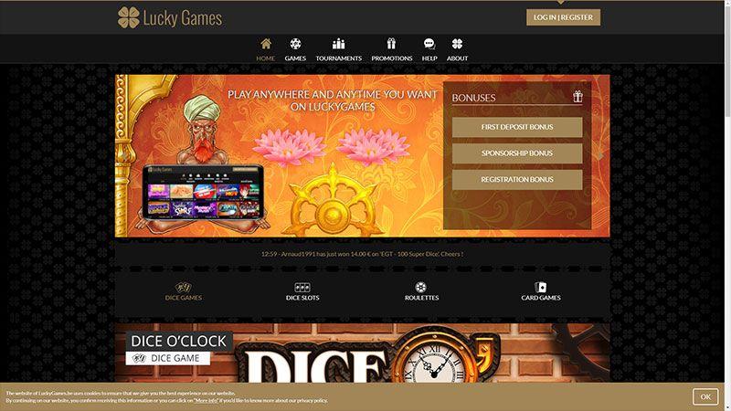lucky games lobby screenshot