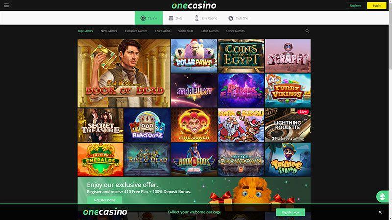 onecasino lobby screenshot