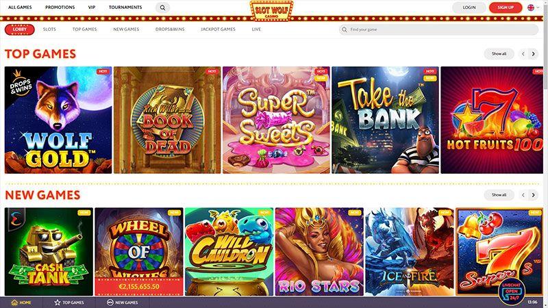 slotwolf lobby screenshot