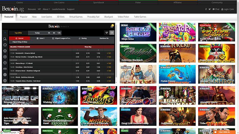 betcoin lobby screenshot