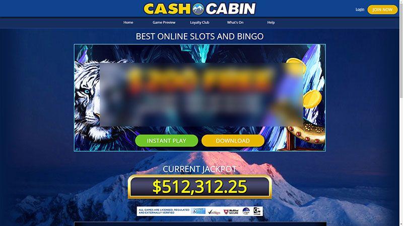 cashcabin lobby screenshot