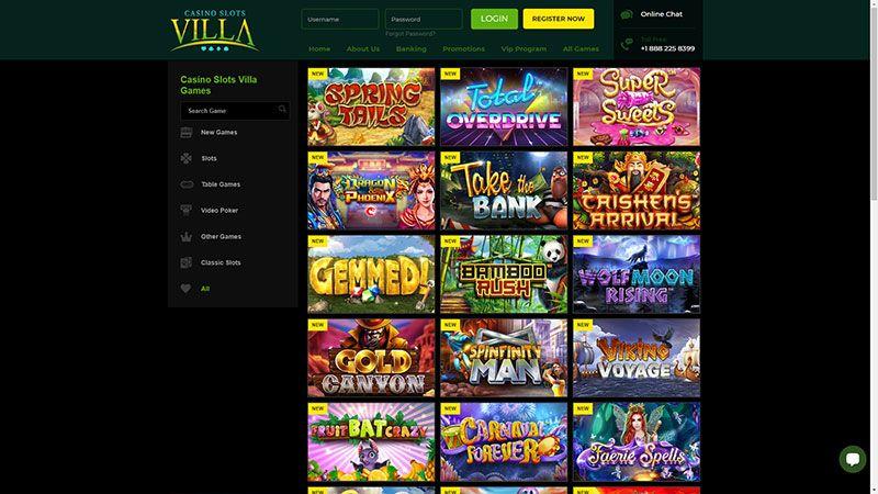 casino slots villa lobby screenshot
