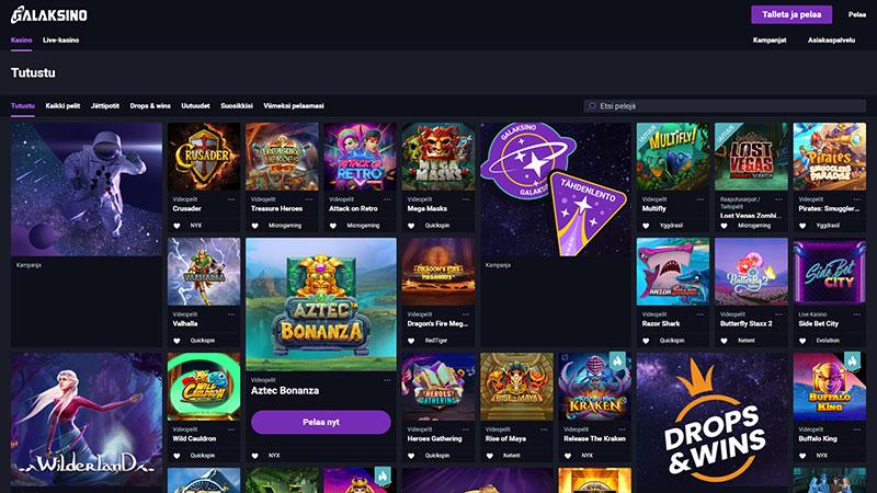 galaksino lobby screenshot