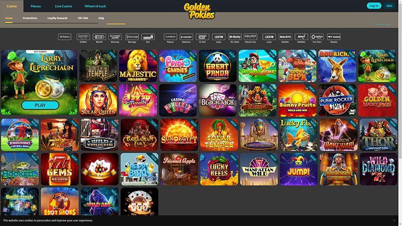 goldenpokies lobby screenshot
