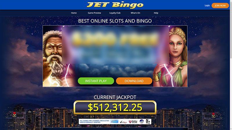 jetbingo lobby screenshot